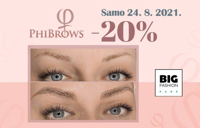 phibrows20% izdvojena